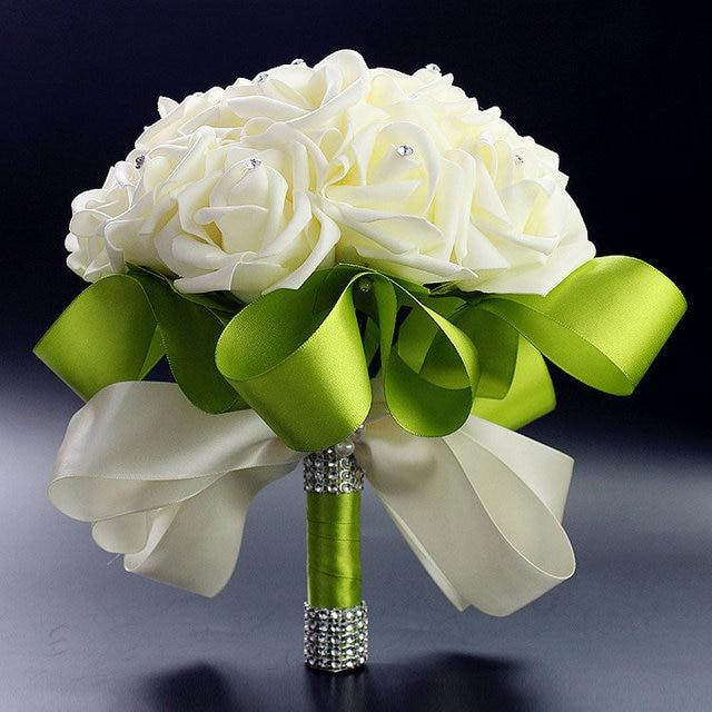 Beautiful Wedding Bouquet Bridal Bridesmaid Flower wedding bouquet artificial flower rose bouquet Romantic bridal bouquets XF08