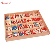 Beech Wooden Montessori Toys Small Movable Alphabet Box Toddlers Preschool  Language Exercises Educational Toy and Games LA014-3