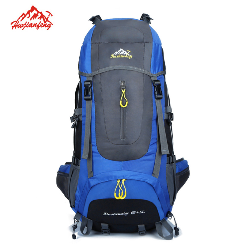 Outdoor Backpack Climbing Sport Bags Men Rucksack Camping Hiking Backpacks Good Quality and Light Weight Large Capacity 65+5L