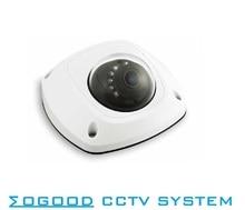 MoGood Multi-language Version DS-2CD2535F-IS 3MP H.265 Surveillance Mini CCTV IP Camera Support PoE / IR/Audio/ONVIF IP66 IK08