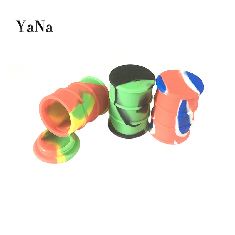 YaNa Non Stick Silicone Container Concentrate - Storage - Oil Drum Barrel Container - Colorful - Free Shipping