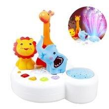 Для сна игрушка легкая музыка рай для животных красочные звезда Sleepy Проектор детские игрушки Английский звук и свет успокаивает проекции