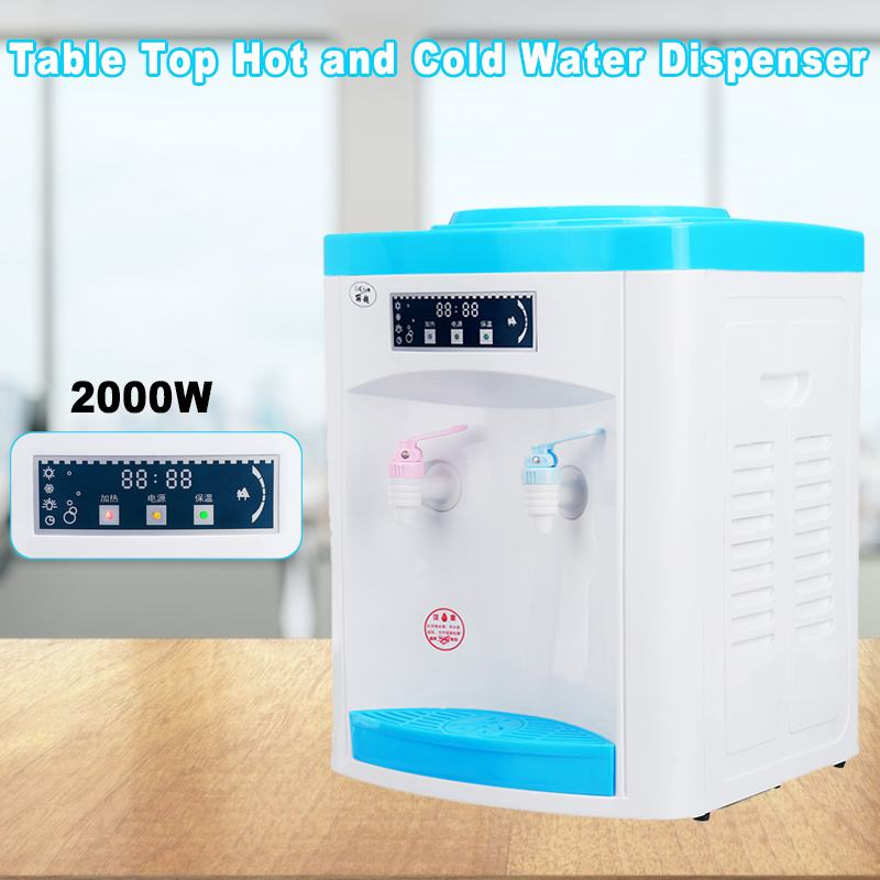 Water Dispenser Mini Desktop Water Filter Cooler Dispenser Hot And Cold Household Office Water Storage Drink Machine Light indic