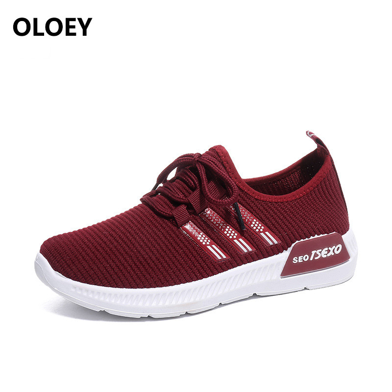Women's shoes casual shoes woman sneakers fashion slip-on breatheable Lace mesh womens shoes fabric hard-wearing animal totem lace mesh sheer slip babydoll