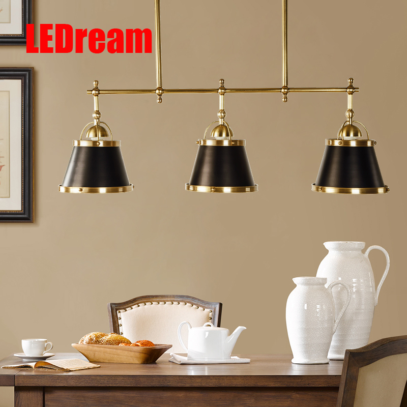 American country restaurant copper meal lanterns hanging lamp act the role ofing dining roomd contracted modern light
