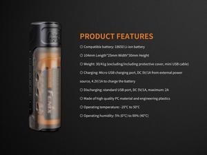 Image 5 - Набор для зарядки Fenix, умное зарядное устройство 5 В, USB выход, умная батарея