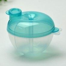 Синий Портативный для малышей бутылочка для кормления молока и Бутылочки для еды контейнер с 3 ячейками практичная коробка для детей ясельного возраста молочный порошок