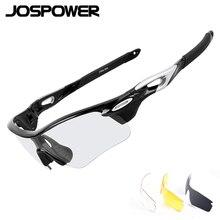 JOSPOWER Photochromic Cycling Glasses Polarized UV400 Sunglasses MTB Road Bike Eyewear Glasses Goggles occhiali ciclismo 3 Lens