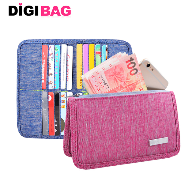 Travel set nylon 20 card holder men Waterproof Business ID passport holder credit card organizer bag women long travel wallet