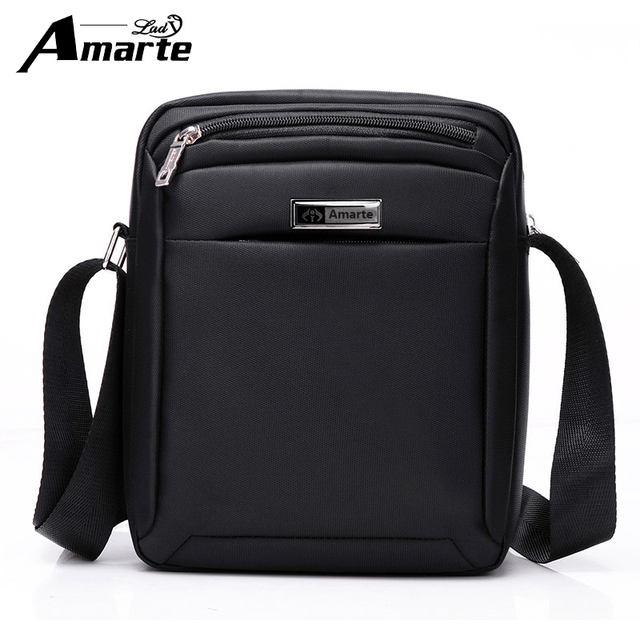 8ca18efcbe3e Men Bag 2017 Men s Fashion Shoulder Bag Waterproof Crossbody Oxford Man  Zipper Messenger Bags Black Brown Business Bag
