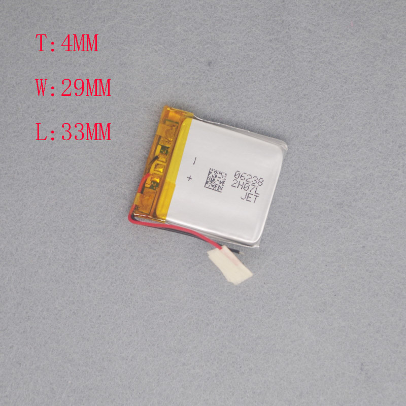 <font><b>3.7V</b></font> Polymer Lithium battery 402933 suitable for wireless mouse MP3MP4 battery 403035 <font><b>320MAH</b></font> image
