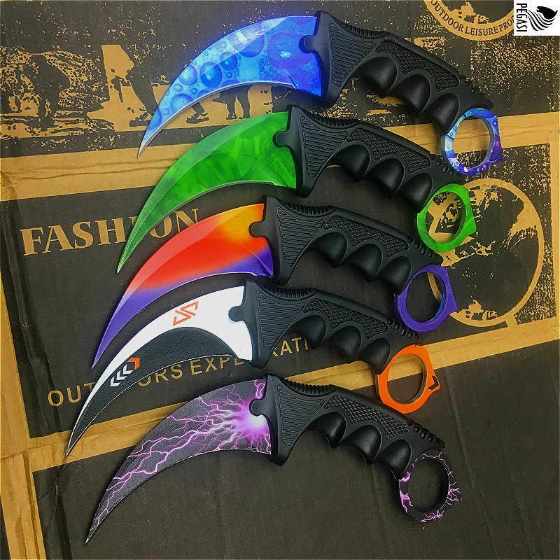 CS GO Counter Strike ножи охотничий нож для выживания Инструменты для кемпинга Тактический коготь нож бабочка тренировочный нож