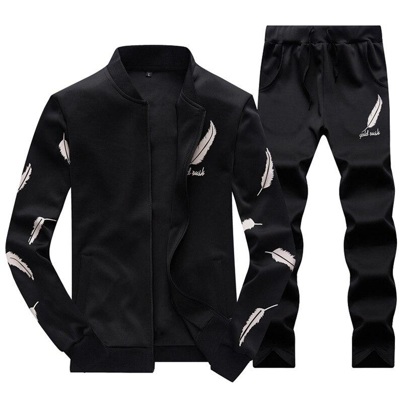 Новое поступление 2017 года для мужчин спортивный костюм теплая спортивная одежда комплект кардиган крыло на молнии s 4XL мужской красн