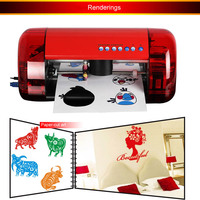 1pc Mini Vinyl Cutter Cutok DC240 PU PVC A4 Size Mini Desktop Portable Cutting Plotter Free