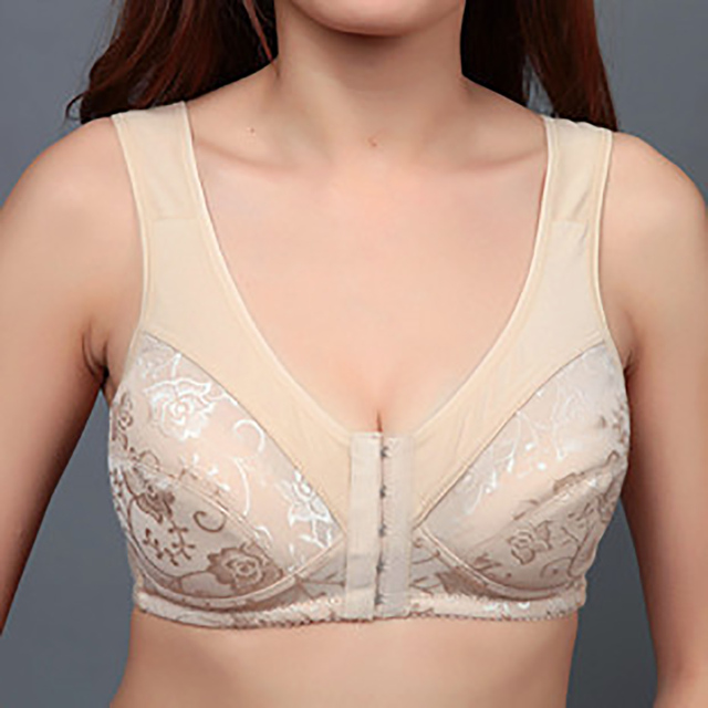 Women sexy front closure bra comfortable strappy backless bra ladies breathable brassiere plus size bras for women