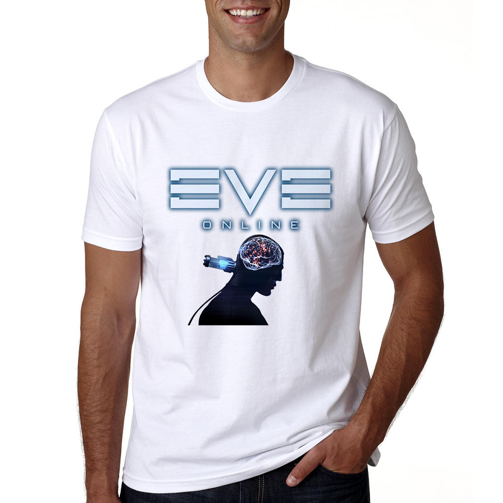 New Arrival Mens Game EVE Online T Shirt Short Sleev O-neck Cool Game T-shrit Summer Casual Male EVE Online Logo Tshirt Tops