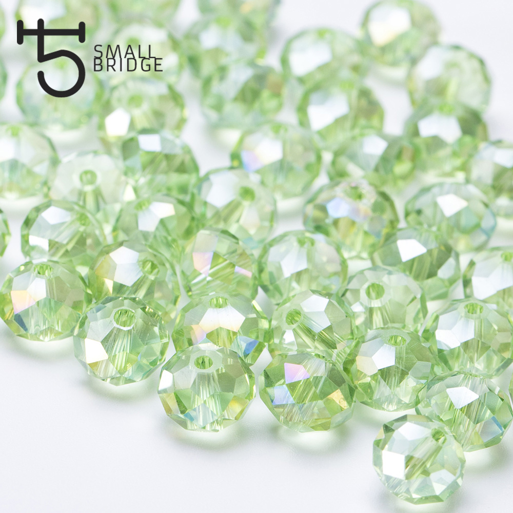 300 Lime Green Opaque 10mm Melon Pony Beads Made in the USA