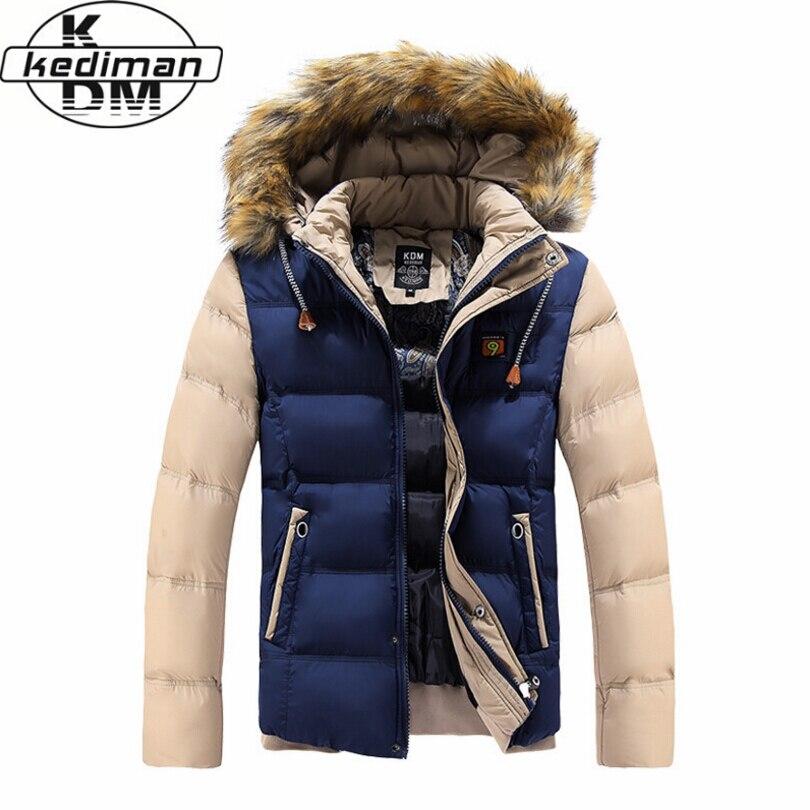 Новинка 2017 зимние брендовые Для мужчин Подпушка Мужские парки Куртки модная мужская с капюшоном толстые теплые на открытом воздухе верхняя одежда; Пальто ватные пальто