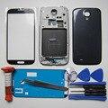 Полный Крышку Корпуса для Samsung Galaxy S4 IV i9500 Передняя ЖК Рамка и ближний Рама и Задняя крышка и Экран Стекло & tools & УФ-клей