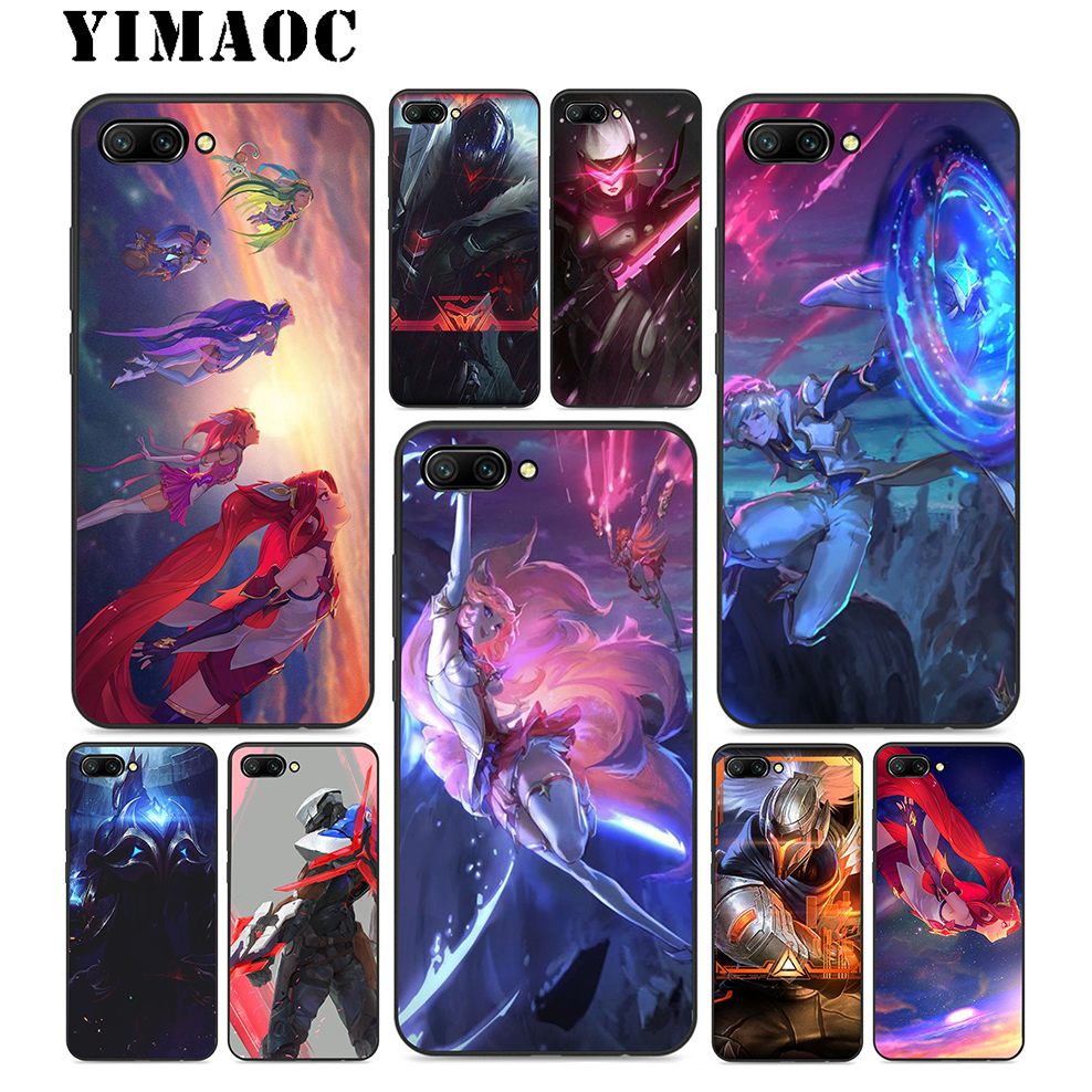 YIMAOC Lol Star Guardians Soft TPU Black Silicone Case For Huawei Honor Mate P20 P10 P9 P8 10 9 8 P Smart Y6 6A Lite Pro 2017