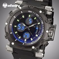 INFANTRY Men Sports Watches Waterproof Relogios Masculinos Rubber Strap Military Quartz Watch Dual Time Chronograph Wristwatches