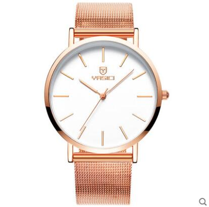 Watch male students Korean version of the simple trend of casual fashion steel tape quartz watch male men's watch business casual fashion watch features diamond dial strip of male and female students in outdoor sports with retro lovers watch