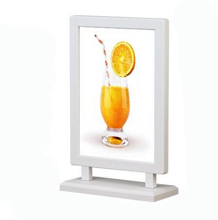 A6 Label Holder Frame Desk Sign Holder Plastic Poster Frame Desk Art Photo Display Rack Home Decor Picture Stand Menu Holder