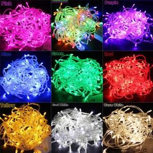 Сказочная светодиодная гирлянда, водонепроницаемая, 220 В, 110 В, 5 м, 10 м, 20 м, 30 м, 50 м, 100 м