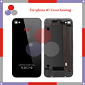 100Pcs/Lot high quality For IPhone 4 4g Back Cover Housing Battery Cover Door Back Cover White Black Cover DHL Free Shipping