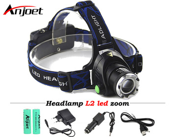 Anjoet Cree XML-L2 XM-L T6 Led Headlamp Zoomable Headlight Waterproof Head Torch flashlight Head lamp Fishing Hunting Light ndtusmz 6000 lumen cree xm xml t6 led koplamp zaklamp hoofd lamp light not include 2 18650 oplader and auto charger