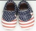 Nuevo estilo de la borla de zapatos de los niños EE. UU. Bandera Americana de Cuero genuino suave suela Hecha A Mano Mocasines bebé Niño niños zapatos de los bebés