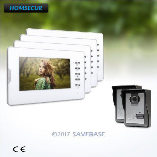 HOMSECUR 7inch Video Door Entry Security Intercom with IR Night Vision for Home Security