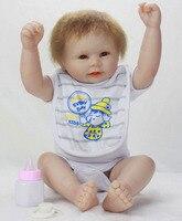 20 Inch 46cm Reborn Real Toy Soft Plastic Full Glue Simulation Baby Doll Lifelike Birth All