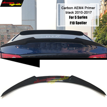 цена на F10 Spoiler Rear wing NEW AEM4 Style Carbon Fiber Fits For BMW F10 535i 530i 528i 525i 520i Rear Trunk Spoiler Wing Tail 2010-16