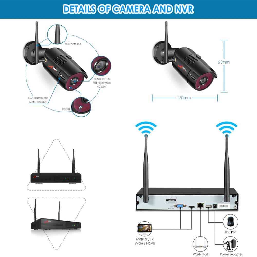 Cámaras IP ANRAN 1080P HD Sistema de vigilancia de visión nocturna - Seguridad y protección - foto 3