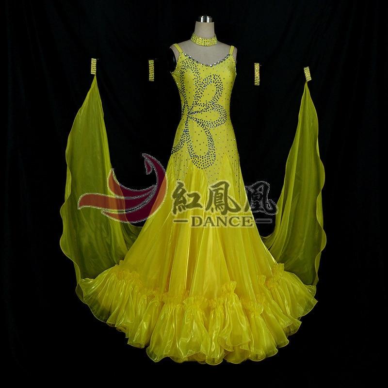 High-end International Standard Ballroom Smooth Dance Wedstrijdjurk, - Nieuwe items