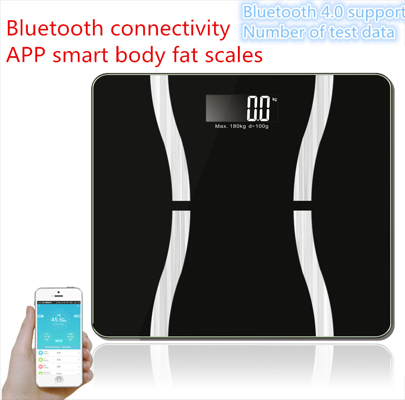 Household Multifunction Smart Weighing Electronic Health Scale Support Bluetooth4.0 Losing Weight Digital Scale Body Fat Scale baby kids adult smart body fat intelligent weight scale electronic lcd digital app control analysis weight scale weighing tool