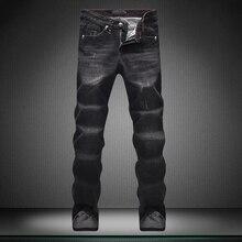 Показать тонкие Джинсы мужчин Случайные штаны новые Маленькие ноги брюки Высокой качество дизайнер Бренда мужские брюки мальчик джинсы прямые страх божий