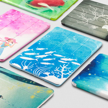 Case for iPad 9.7 2017 2018 Cover Christmas gift For new soft silicone with beautiful pattern