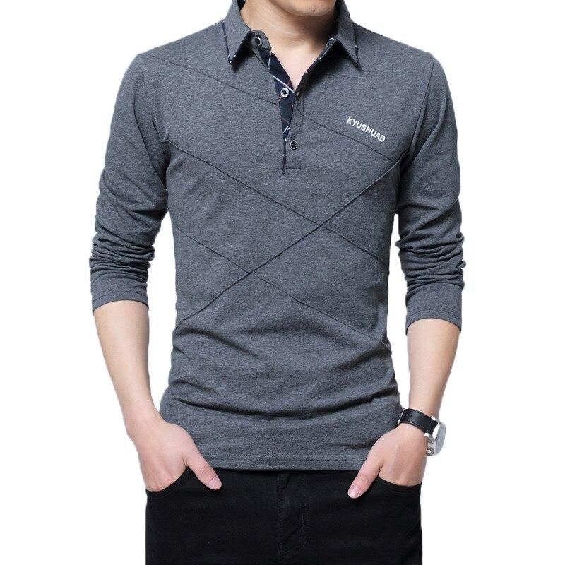 698dad83682b Best Seller 2018 Mens Winter Fleece T-shirt Fashion Slim Long Sleeve  Turn-down Collar Fitness T-shirts men Tops & Tees Homme Custom Tshirt