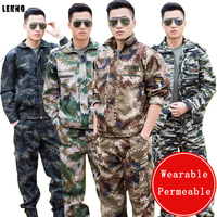 Brand LEHNO Camouflage SuitsThicken Army Uniforms Climbing Adventure Students Summer Camp Military Training Men and Women