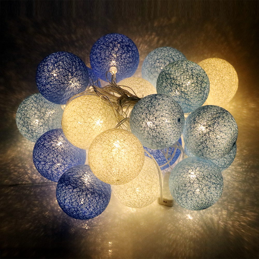 High Quality Patio Decors Fabric Flexible LED String Lights Outdoor Lighting Christmas Garden Party Decoration Lamp