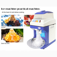 200kg/h Electric Ice Planer Commercial Ice Crusher Automatic Snow cone machine Cube Ice Crusher White/Blue 220 240V 50/60Hz