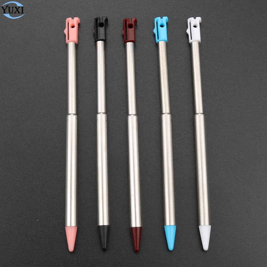 YuXi 1 pc Retractable โลหะหน้าจอสัมผัสปากกา Stylus สำหรับ Nintendo สำหรับ 3DS