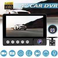 Full HD 1080P 4.0'' LCD Dual Lens Car DVR Monitor Rear Camera Dashcam Video Registrars Car Camcorder Dash Cam Rearview Monitor