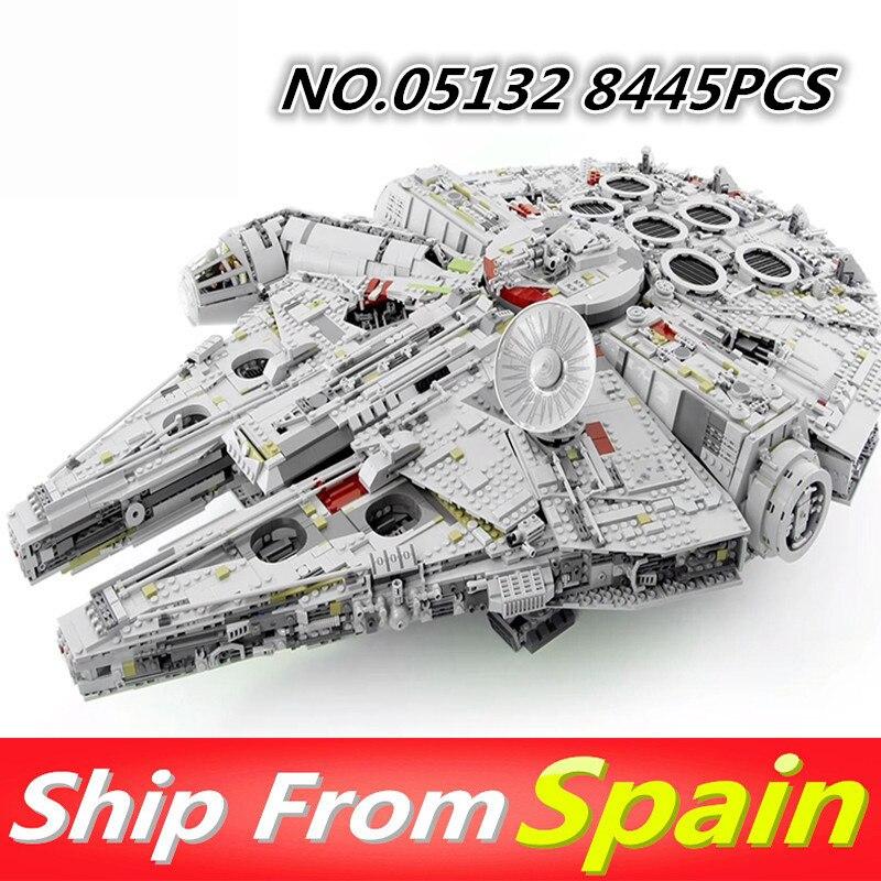 05132 05007 05028 stern Plan Serie Wars Bausteine Kraft Weckt 75105 Millennium Falcon Legoing 75192 Kinder Spielzeug