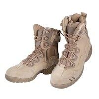 Szczegóły na temat Armia Botki Męskie Buty Sportowe Skórzane Bojowe Wojskowe Taktyczne Komfort