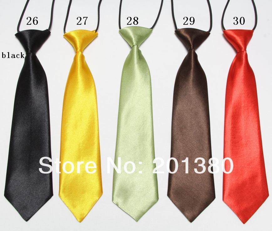 2019 Boys Ties For Kids Neck Tie Solid Handmade Neckcloth