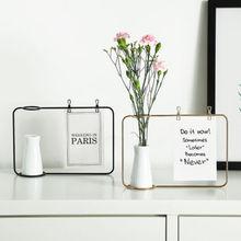Новые творческие железная фоторамка стенд открытка Клип держатель домашний декор модные дизайн Семья Друзья фото рамки