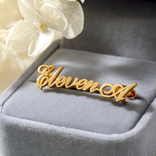 Customized  Name Brooch Pins Personalized Initial Letters Brooches Handmade Jewelry Wedding Bridesmaid Gifts For Women Men